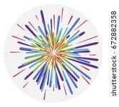 fireworks  colorful fireworks ...   Shutterstock .eps vector #672882358