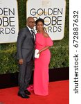 Small photo of LOS ANGELES, CA - JANUARY 8, 2017: Angela Bassett & Courtney B. Vance at the 74th Golden Globe Awards at The Beverly Hilton Hotel, Los Angeles