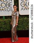 Small photo of LOS ANGELES, CA - JANUARY 8, 2017: Ruth Negga at the 74th Golden Globe Awards at The Beverly Hilton Hotel, Los Angeles