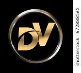 dv initial letter logo inside...   Shutterstock .eps vector #672888562