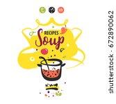 hand drawn concept vector logo...   Shutterstock .eps vector #672890062