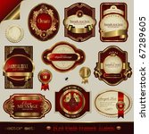 vector set  red and golden... | Shutterstock .eps vector #67289605