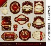 vector set  red and golden... | Shutterstock .eps vector #67289605