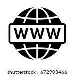 visit internet online or world... | Shutterstock .eps vector #672903466
