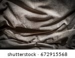 detail of a bed in a messy house | Shutterstock . vector #672915568