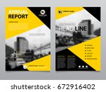 annual report design  template... | Shutterstock .eps vector #672916402