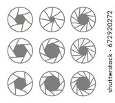 set of monochrome icons with... | Shutterstock .eps vector #672920272