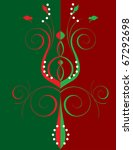Raster version Illustration of abstract party like background. Christmas Abstract Flower - stock photo