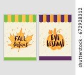 poster design for the fall... | Shutterstock .eps vector #672928312