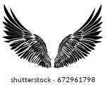 wings. vector illustration on... | Shutterstock .eps vector #672961798