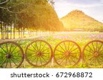 beautiful view of colorful... | Shutterstock . vector #672968872