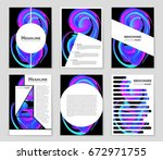 abstract vector layout... | Shutterstock .eps vector #672971755