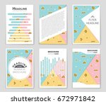 abstract vector layout... | Shutterstock .eps vector #672971842