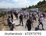 istanbul  turkey   july 06 ... | Shutterstock . vector #672973792