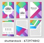 abstract vector layout...   Shutterstock .eps vector #672974842