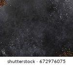 dark mica background. stone... | Shutterstock . vector #672976075