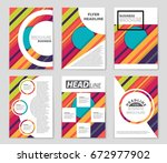 abstract vector layout... | Shutterstock .eps vector #672977902