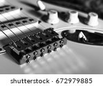 guitar in black and white   Shutterstock . vector #672979885