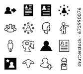 profile icons set. set of 16... | Shutterstock .eps vector #672990076