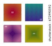 minimal covers design. cool... | Shutterstock .eps vector #672990592