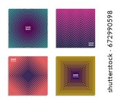 minimal covers design. cool... | Shutterstock .eps vector #672990598