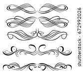 decorative monograms and... | Shutterstock .eps vector #672992026