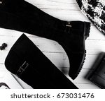 Black Suede Women's Boots Are...
