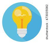 bulb icon. idea icon. | Shutterstock .eps vector #673035082