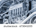 blue toned electrical...   Shutterstock . vector #673041055