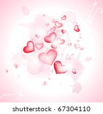 love abstract background with... | Shutterstock . vector #67304110