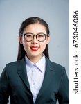 chinese business girl    Shutterstock . vector #673046086