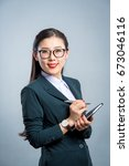 chinese business girl    Shutterstock . vector #673046116
