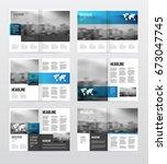magazine or catalog template...   Shutterstock . vector #673047745