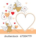 greeting card with elves and...   Shutterstock .eps vector #67304779