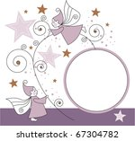 greeting card with elves  stars ...   Shutterstock .eps vector #67304782