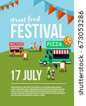 food truck festival event flyer ...   Shutterstock . vector #673053286
