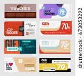 big voucher discount template...   Shutterstock . vector #673053292