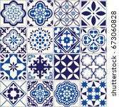 Vector Tile Pattern  Lisbon...