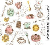 sweet cake. seamless pattern | Shutterstock .eps vector #67306240