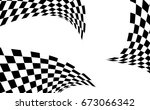 checkered racing flag isolated... | Shutterstock .eps vector #673066342