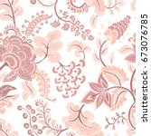 seamless pattern with fantasy... | Shutterstock .eps vector #673076785