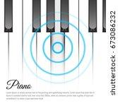 piano keys concept. vector...   Shutterstock .eps vector #673086232