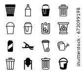 can icons set. set of 16 can... | Shutterstock .eps vector #673099198