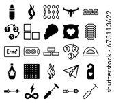 icons set. set of 25  outline... | Shutterstock .eps vector #673113622