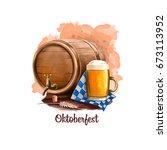oktoberfest holiday banner...   Shutterstock . vector #673113952
