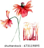 original floral background with ... | Shutterstock . vector #673119895