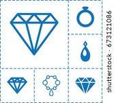 jewel icon. set of 6 jewel...   Shutterstock .eps vector #673121086