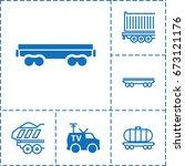 wagon icon. set of 6 wagon...   Shutterstock .eps vector #673121176
