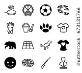 cartoon icons set. set of 16