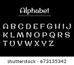 alphabet letters. alphabet... | Shutterstock .eps vector #673135342